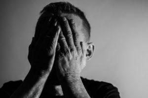 אדם בדיכאון